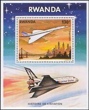 Rwanda 1978 Planes/Concorde/Space Shuttle/Aviation/Transport 1v m/s (n22234)