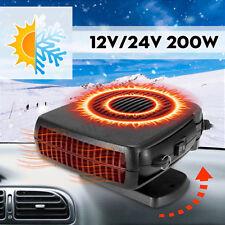 2 in 1 Car Portable Heating Cooling Heater Fan Defroster Demister Dc12V/24V 200W