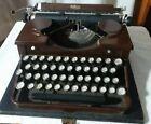 VINTAGE+1930s+SHADES+OF+BROWN+ROYAL+PORTABLE+TYPEWRITER+w%2F+CASE+P288081