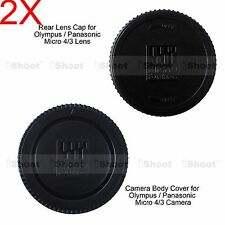 2x Rear Cap Cover for Olympus Micro 4/3 M.Zuiko Digital 14-42/3.5-5.6 Lens