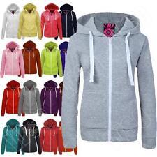 Fleece Hooded Plain Regular Size Hoodies & Sweats for Women