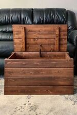 Rustic Wood Storage Chest Trunk