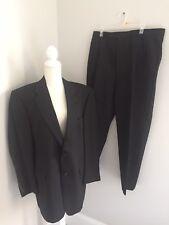 Mens Size 44R Hart Schaffner & Marx Pure Wool Suit Striped Dark Gray NWOT