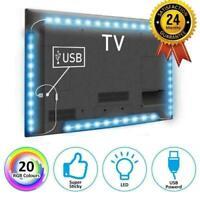 2M Tira luz LED TV Iluminación Espalda MULTICOLOR USB Parte Trasera Kit 5050 RGB