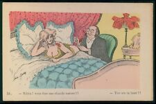 art Xavier Sager nude woman hot big butt humor original 1910s postcard
