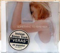 MADONNA SOMETHING TO REMEMBER BONUS TRACK VERAS IN SPANISH RARE CD