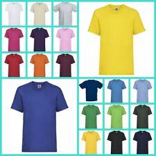 T-shirt E Maglie T-shirt Bimbo Bambino Unisex Fruit Of The Loom Maglietta Manica Corta Bambina