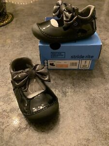 NEW Toddler 6M Stride Rite Soft Motion Esme Black Leather Mary Jane Dress Shoes