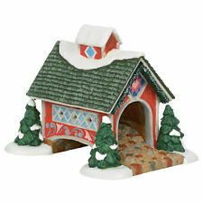 Dept 56 Jim Shore New England Village New 2019 White Rose Covered Bridge 6003105
