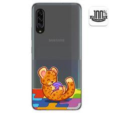 Funda Gel Transparente para Samsung Galaxy A90 5G diseño Leopardo Dibujos