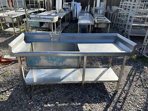 Stainless Steel Commercial Sink (2m) Read Description