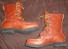 Field & Stream Leather Boots Mens Size 6.5 Brown Shoes Adult Work Play everyday