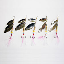 5pcs Lot Spinnerbaits Trolling Spinner Bait Baits Bass Fishing Lures