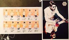 KPOP EXO Photo Cards Postcards SET #X5 Baekhyun Chanyeol Kai Sehun Lay Suho Kris