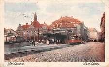 Mor Ostrava Czech Republic Mahr Ostrau Street Scene Trolley Postcard J58954