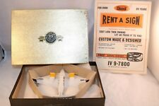 Dinky Toys 715 Beechcraft C55 Baron plane boxed RARE PROMOTIONAL RENT A SIGN