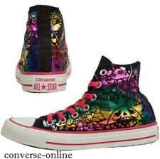 Da Donna Converse All Star Rosa Metallico Nero Tatuaggio Sneaker Alte Taglia 35 UK 3