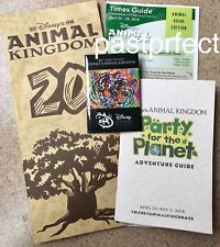 Disney Button Map Party Guide Animal Kingdom 20th Anniversary April 22 2018 DCF