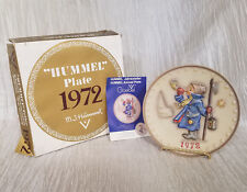 "Vintage 1972 Hummel 2nd Annual Plate ""Hear Ye, Hear Ye"" in Original Box"