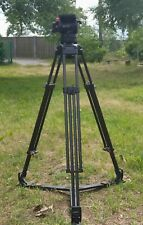 Sachtler Video 12 100mm tripod system with Carbon Fiber 1 stage legs