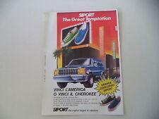 advertising Pubblicità 1987 SIPORT e JEEP CHEROKEE CHIEF