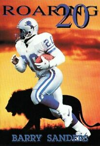"""NEW IN ORIGINAL TUBE BARRY SANDERS """"ROARING 20s"""" COSTACOS BROTHERS 1992 POSTER"""