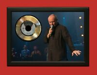 Phil Collins Poster Art Wood Framed 45 Gold Record Display C3