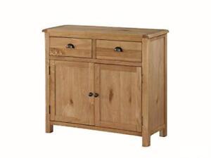 Kelowna Natural Oiled Oak Mediu Sideboard 2 Doors 2 Drawers Dining Room Furnitur
