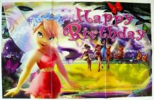 TINKER BELL FAIRIES HAPPY BIRTHDAY PARTY POSTER/BANNER - PARTY DECORATION