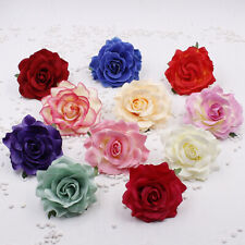 "2/5P Large Rose 4"" Cloth Artificial Flowers Head Fake Floral Wedding Home Decor"