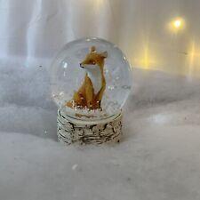 Mini Fox Snow Globe Christmas Decoration Gisela Graham Woodland Small Advent