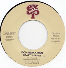 "DON BLACKMAN "" HOLDING YOU, LOVING YOU "" / "" HEART'S DESIRE "" 7"" UK NEW SOUL"