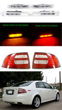 DEPO Combo 2004-2008 Acura TL LED Side Marker + Red/Clear Tail Lights