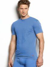 Polo Ralph Lauren Classic Cotton Crewneck 3-Pack Undershirt, Color: Carson Blue