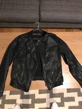 Women's Zara Leather Jacket - Black - Small
