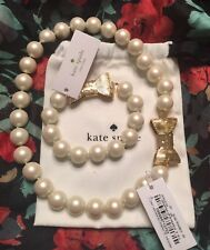 KATE SPADE ALL WRAPPED UP IN PEARLS SHORT NECKLACE & BRACELET SET NWT