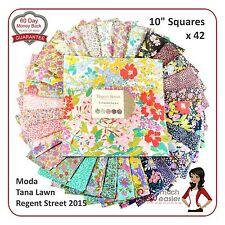 Moda Regent Street Layer Cake Fabric sqaures tana lawn liberty print UK fabrics