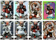 Cleveland Browns 8-Card Lot RC Refractor Die-Cut Manziel Johnson Mayle Non-Auto
