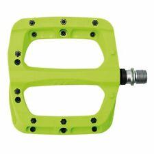 HT PA03A Mountain Bike Flat Nylon Reinforced Pedals Lime Green