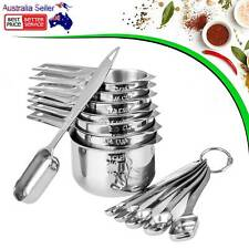 13pcs/set Stainless Steel Measuring Spoons and Cups Combo Kitchen Measuring Kit