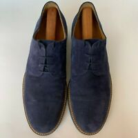 AUSTEN HELLER Oxfords Navy Blue Premium Suede Leather Dress Shoes Mens Size 12