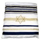 """Kosher Tallit Prayer Shawl Talit Dark Blue & Gold Stripes w/ Talis Bag 63"""" x 42"""""""