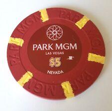 $5 Las Vegas Park MGM Casino Chip - Near Mint