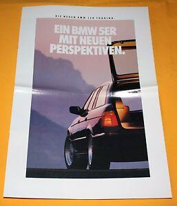 BMW 5er Touring E34 1991 Prospekt Brochure Depliant Catalogue Prospetto Catalog