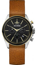 Vivienne Westwood Camden Lock II Leather Strap Men's Watch VV069BKBR