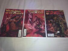 Lot de trois comics vo Warlord of Mars n°23, 24 et 25 Parillo  sexy cover !