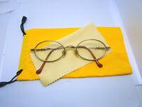 VINTAGE TURA Womens Eyeglass Frames 48-19-131 MOD.458 Gold Full Rim Oval Glasses
