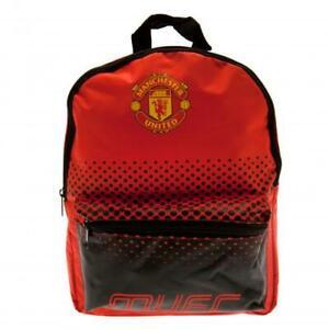Manchester United Junior Backpack School Bag Red Black Rucksack MUFC Outdoor