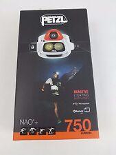 NEW Petzl Nao Orange head lamp 370 lumens Batteries included!