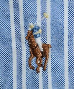 Men's Polo Ralph Lauren Blue Striped Long Sleeve Dress Shirt Size 15.5-34/35